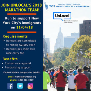 UnLocal flyer for 2017 New York City Marathon