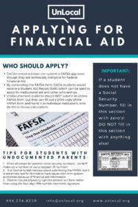 Poster about Applying for Financial Aid