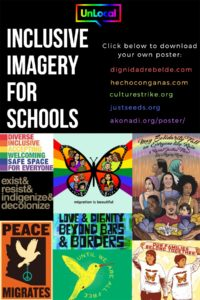 Poster about inclusive imagery for schools